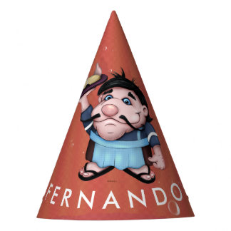 FERNANDO WAITER CARTOON Party Hat 2