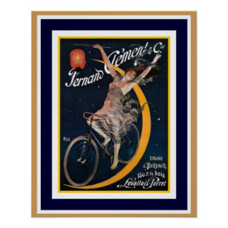 Fernano Clement Vintage Bicycle Ad Poster 16 x 20