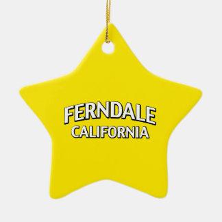 Ferndale California Ceramic Star Ornament
