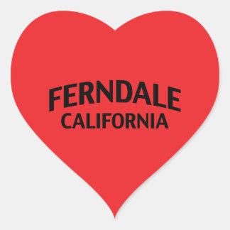 Ferndale California Heart Sticker