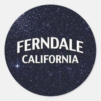 Ferndale California Round Sticker