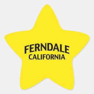Ferndale California Star Sticker