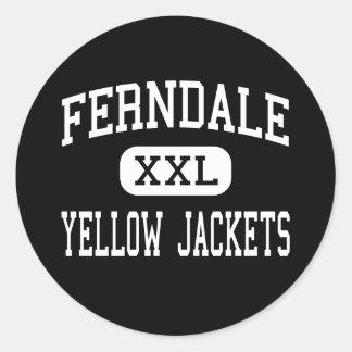 Ferndale - Yellow Jackets - Area - Johnstown Round Sticker