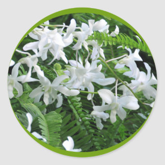 Ferns and Flowers Sticker
