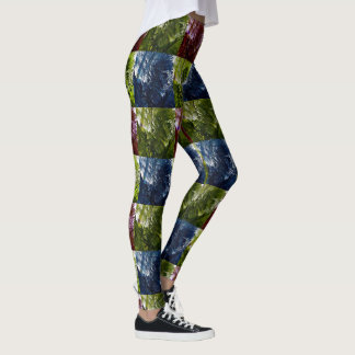 Ferns In Four Colours, Leggings