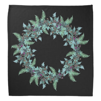 Ferns Leaves Clematis Flowers Floral Bandana