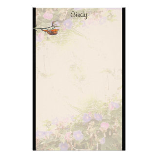 Ferns Morning Glory Stationery