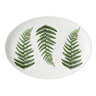 Ferns Porcelain Serving Platter