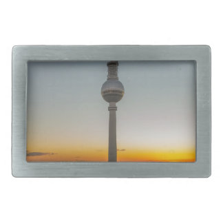 Fernsehturm Berlin, Berlin TV Tower, Germany Rectangular Belt Buckle
