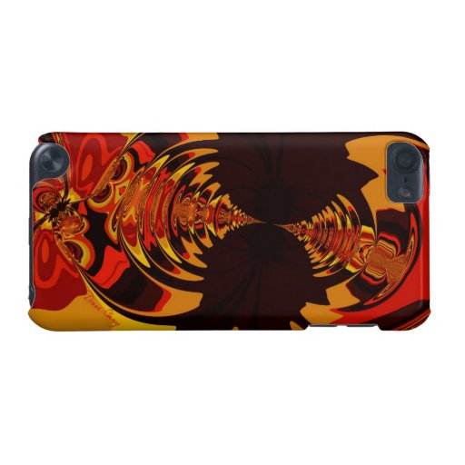 Ferocious, Abstract Amber and Orange Creature iPod Touch (5th Generation) Cover