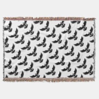 Ferocious Eagle Mascot Throw Blanket