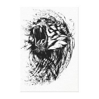 Ferocious Tiger Illustration Canvas Print