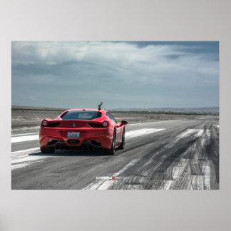 Ferrari 458 Italia Ready to Race Poster