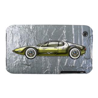 Ferrari Sports Car Custom Gold and Silver Case-Mate iPhone 3 Case
