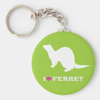 Ferret (5) basic round button keychain