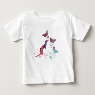 Ferret and butterflies baby T-Shirt