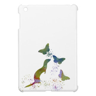 Ferret and butterflies iPad mini cover