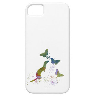 Ferret and butterflies iPhone 5 cover