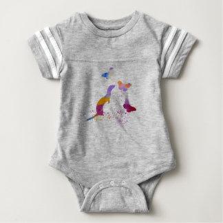 Ferret and buttterflies baby bodysuit