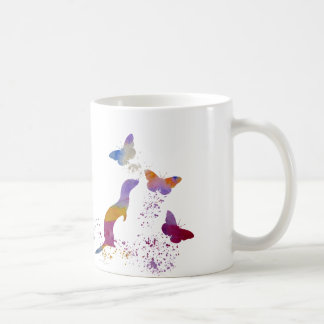 Ferret and buttterflies coffee mug