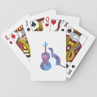 Ferret and saxophone playing cards