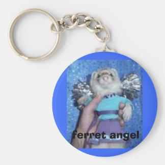 ferret angel basic round button keychain