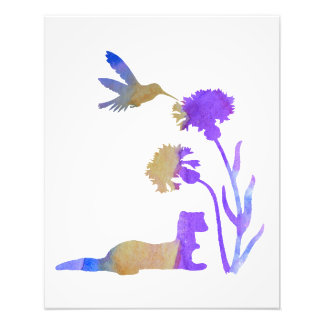 Ferret Art Photo Print
