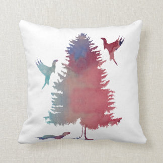 Ferret Art Throw Pillow