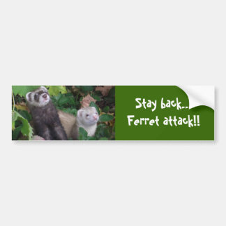 Ferret attack bumper sticker