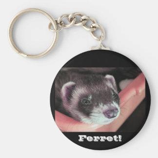 Ferret Basic Round Button Keychain
