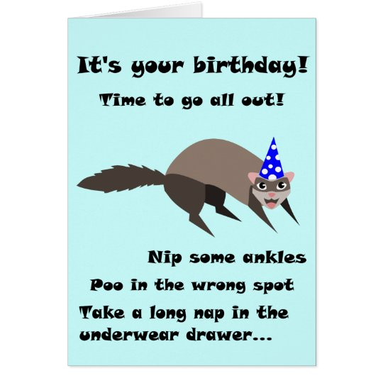 Ferret Birthday Card