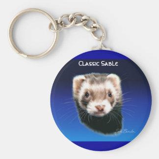 Ferret Classic Sable Basic Round Button Keychain