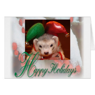 Ferret Elf Christmas Card