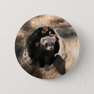 Ferret Face 2 Inch Round Button