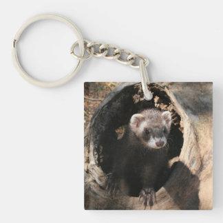 Ferret Face Acrylic Keychain