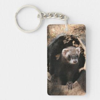 Ferret Face Add Photo Acrylic Keychain