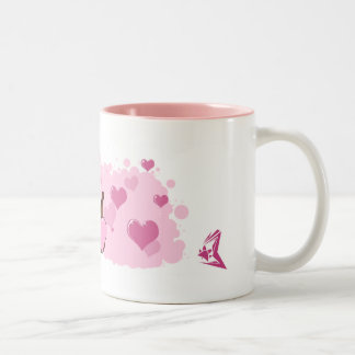 Ferret Love Two-Tone Coffee Mug