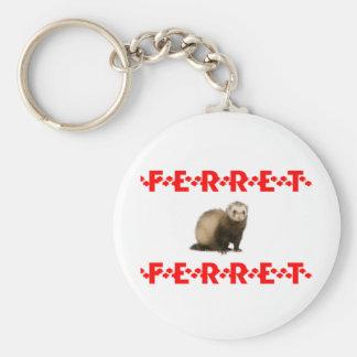 ferret paws basic round button keychain