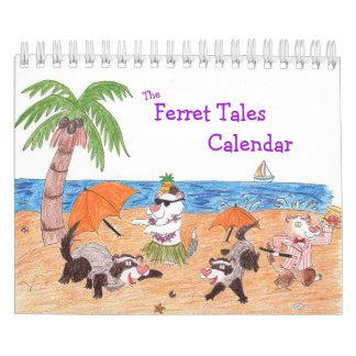 Ferret Tales Calendar: Illustrated Cartoon Ferrets Calendar