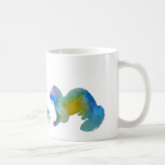 Ferret with toy coffee mug