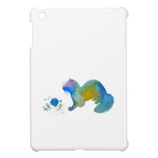 Ferret with toy iPad mini case