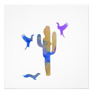 ferrets and cactus photo print