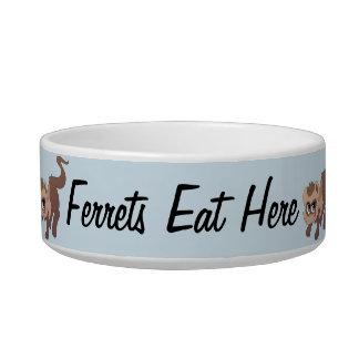 Ferrets Eat Here Bowl