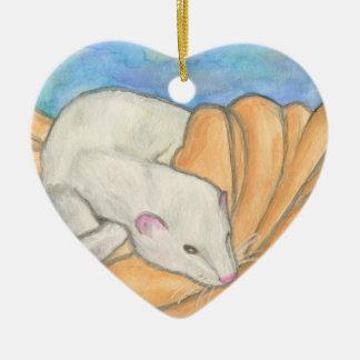 Ferret's Favorite Blanket Ceramic Ornament