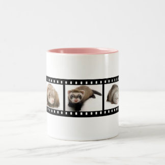 Ferrets Film Strip Two-Tone Coffee Mug