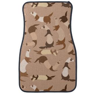 Ferrets pattern car floor carpet