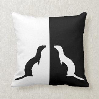 ferrets throw pillow