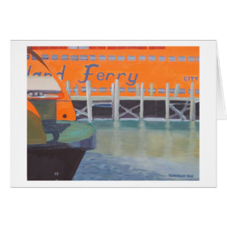 Ferries In Dock Card