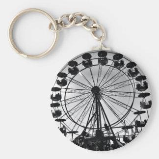 Ferris roulent dedans les cadeaux noirs et blancs  porte-clé rond