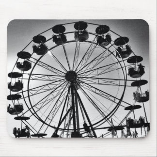 Ferris roulent dedans les cadeaux noirs et blancs  tapis de souris